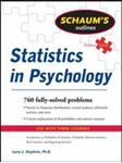 Picture of Schaum's Outline of Statistics in Psychology