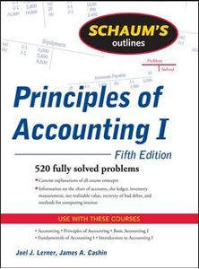 Picture of Schaum's Outline of Principles of Accounting I