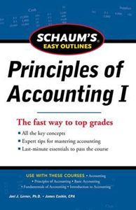 Picture of Schaum's Easy Outline of Principles of Accounting