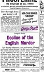 Picture of Decline of the English Murder