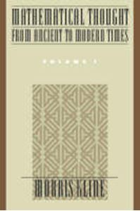 Picture of Mathematical thought from ancient to modern times