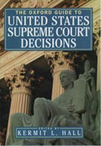 Picture of Oxford Guide to United States Supreme Court Decisions