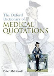 Picture of Oxford Dictionary of Medical Quotations