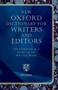 Picture of New Oxford Dictionary for Writers and Editors