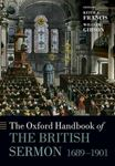 Picture of Oxford Handbook of the British Sermon 1689-1901