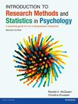 Picture of Introduction to Research Methods and Statistics in Psychology 2ed