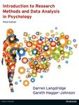 Picture of Introduction to Research Methods and Data Analysis in Psychology 3ed