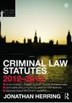 Picture of Criminal Law Statutes 2012-2013