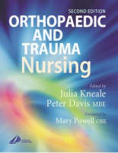 Picture of Orthopaedic and Trauma Nursing: Elective and Emergency Management 2ed
