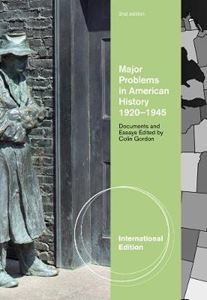 Picture of Major Problems in American History, 1920-1945: Documents and Essays 2ed