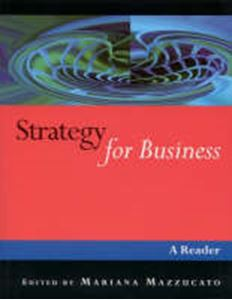 Picture of Strategy For Business, A Reader