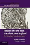Picture of Religion and the Book in Early Modern England: The Making of John Foxe's 'Book of Martyrs'