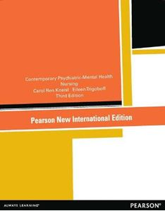 Picture of Contemporary Psychiatric-mental Health Nursing 3ed