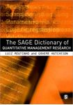 Picture of SAGE Dictionary of Quantitative Management Research