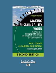 Picture of Making Sustainability Work: Best Practices in Managing and Measuring Corporate Social, Environmental, and Economic Impacts: