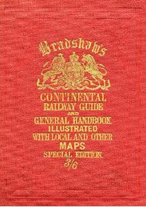 Picture of Bradshaw's Continental Railway Guide