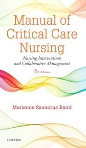 Picture of Manual of Critical Care Nursing: Nursing Interventions and Collaborative Management