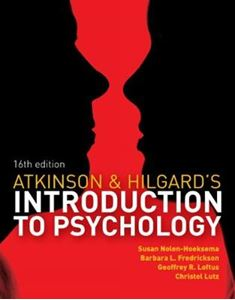 Picture of Atkinson & Hilgard's Introduction to Psychology 16ed