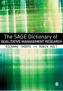 Picture of Sage Dictionary of Qualitative Management Research