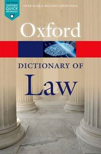 Picture of Oxford Dictionary of Law 8ed