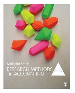 Picture of Research Methods in Accounting 3ed