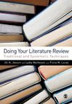 Picture of Doing Your Literature Review: Traditional and Systematic Techniques
