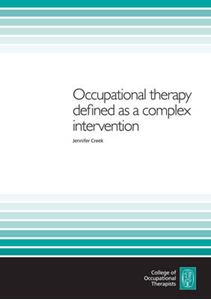 Picture of Occupational Therapy Defined as a Complex Intervention