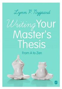 Picture of Writing Your Master's Thesis: From A to Zen