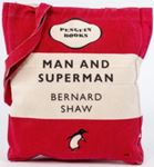 Picture of Man and Superman Tote Bag