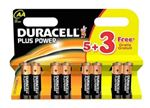 Picture of AA Duracell Batteries 5+3 Pack