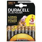 Picture of AAA Duracell Batteries 5+3 pack