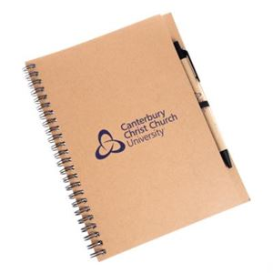 Picture of CCCU A5 Spiral Lined Notebook with CCCU Pen