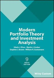 Picture of Modern Portfolio Theory and Investment Analysis 9ed