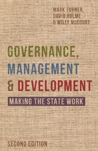 Picture of Governance, Management and Development: Making the State Work