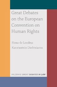Picture of Great Debates on the European Convention on Human Rights