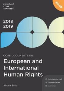Picture of Core Documents on European and International Human Rights 2018-19
