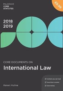 Picture of Core Documents on International Law 2018-19