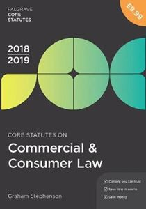 Picture of Core Statutes on Commercial & Consumer Law 2018-19