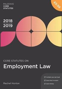 Picture of Core Statutes on Employment Law 2018-19