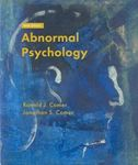 Picture of Abnormal Psychology 10ED