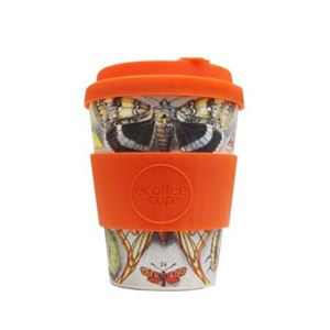Picture of ecoffee cup - Natural Bamboo Fibre - Farfalle