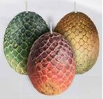 Picture of Game of Thrones: Sculpted Dragon Egg Candles: Set of 3