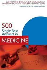 Picture of 500 Single Best Answers in Medicine