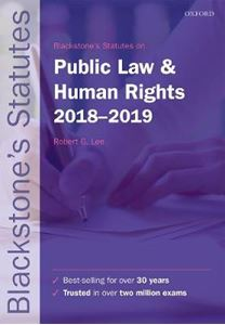 Picture of Blackstone's Statutes on Public Law & Human Rights 2018-2019 28ed
