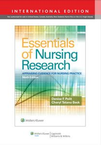 Picture of Essentials of Nursing Research 9ed