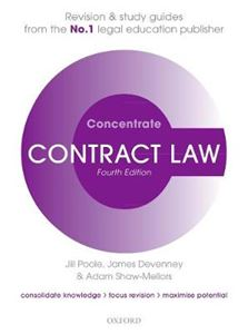 Picture of Contract Law Concentrate 4ed: Law Revision and Study Guide