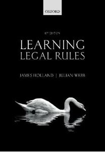 Picture of Learning Legal Rules: A Students' Guide to Legal Method and Reasoning 10ed