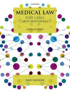 Picture of Medical Law: Text, Cases, and Materials 5ed