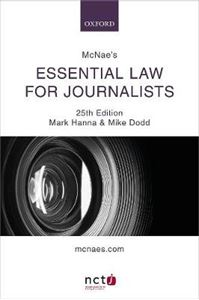 Picture of McNae's Essential Law for Journalists 25ed