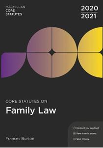Picture of Core Statutes on Family Law 2020-21